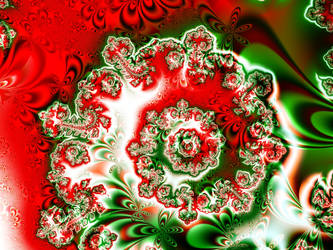 Red, White, and Green Festive Spiral by emilymh2018
