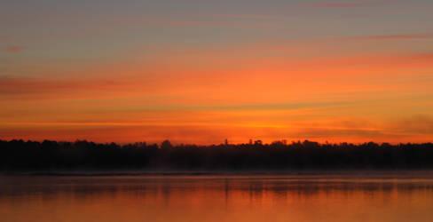 Sunrise on a Minnesota Lake VII