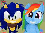 Rainbow Dash and Sonic selfie