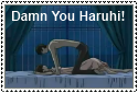 Damn you Haruhi Stamp by ThespianOwl