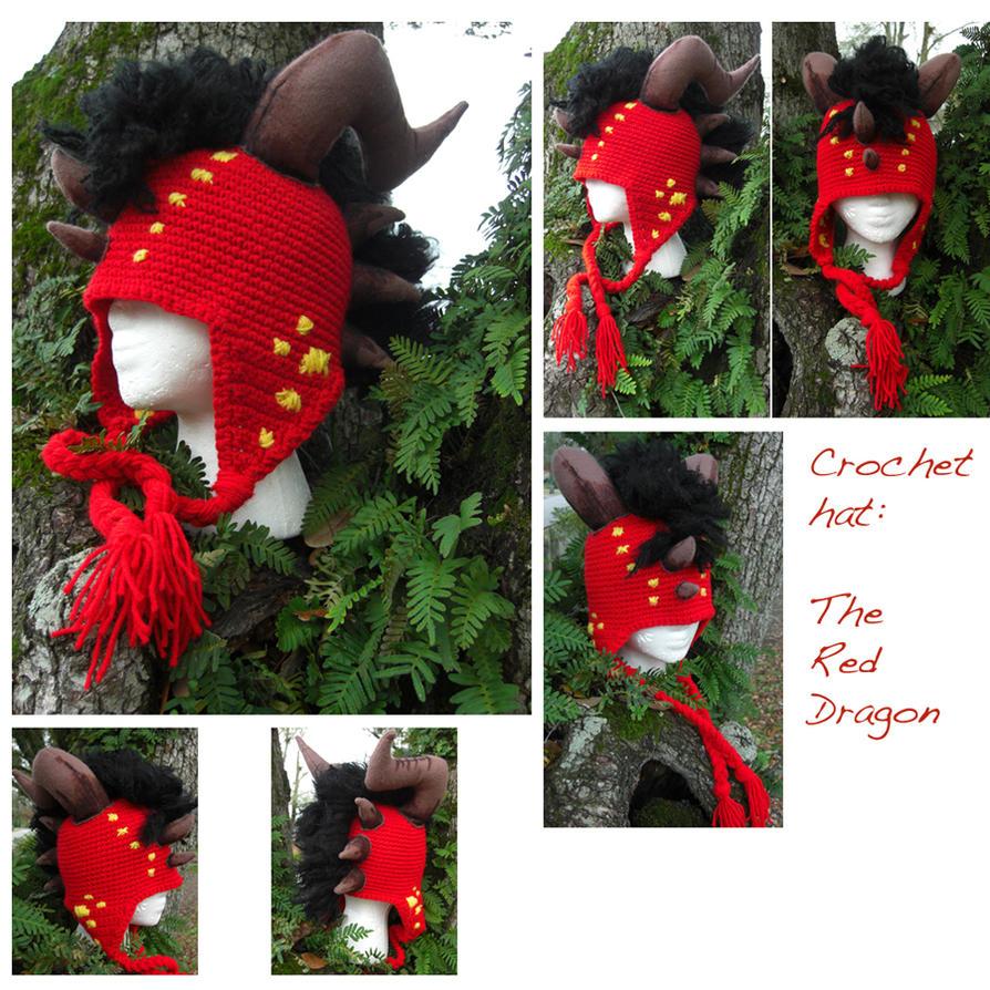 Free Crochet Pattern For Dragon Hat : Crochet Dragon Hat: TRD by TheCrochetDragon on DeviantArt