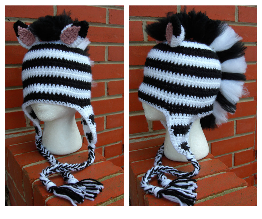 Crochet Pattern Zebra Hat : Zebra Mohawk Hat by TheCrochetDragon on DeviantArt