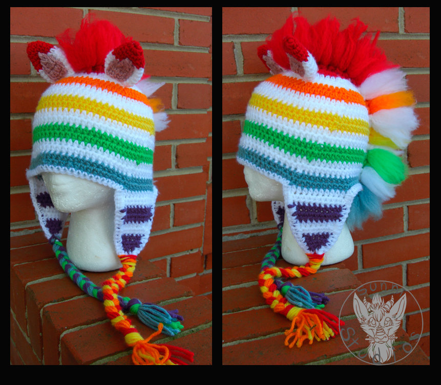 Fruit Stripe Hat by TheCrochetDragon