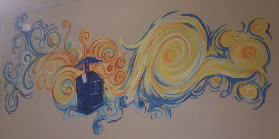 Starry Night Tardis Mural by TheCrochetDragon on DeviantArt