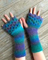 Regal Dragon Gloves by TheCrochetDragon