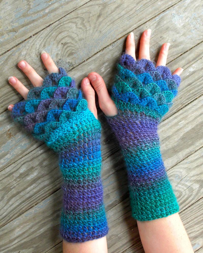Regal Dragon Gloves By Thecrochetdragon On Deviantart