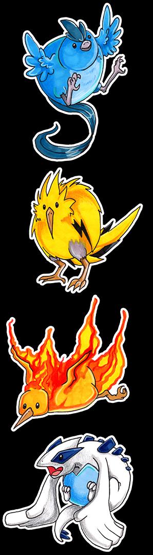 Legenderpy Birds by TheCrochetDragon