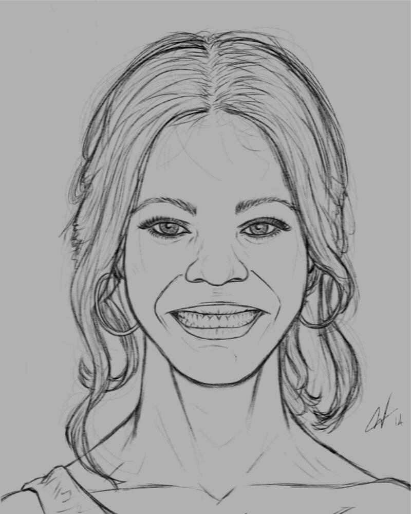 Zoe Saldana sketch by geckobot83