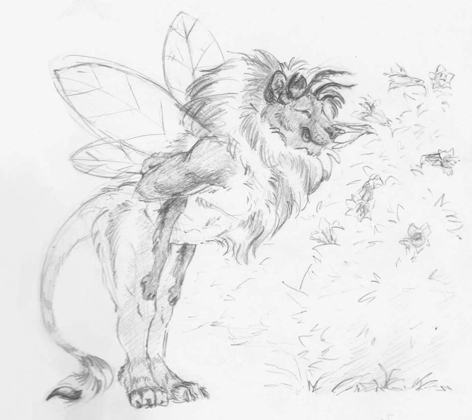 A beautiful bee lion boy by ailurusmursus