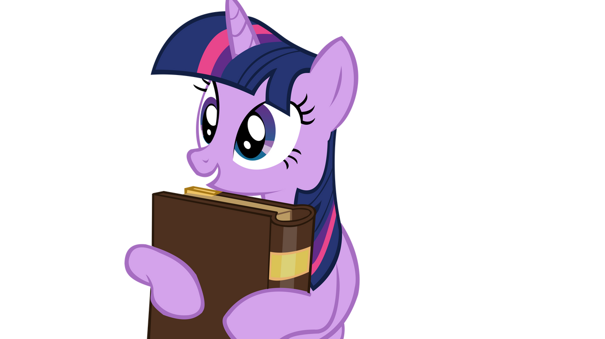 Twilight Sparkle Holding a book Vector by TardisBrony