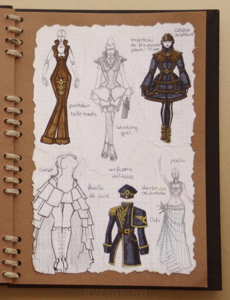 Steampunk Fashion Book 15 16 By Jesse Gourgeon On Deviantart