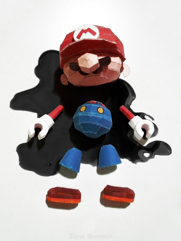 Broken Mario Toy By Jesse Gourgeon On Deviantart