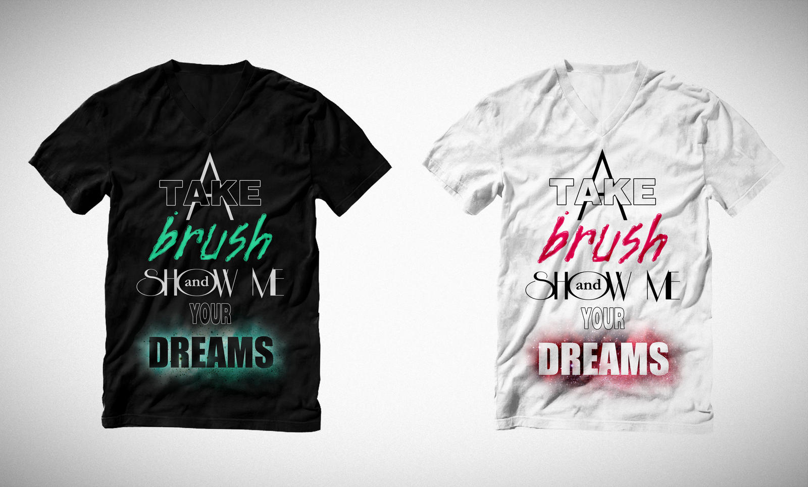 Take a brush and show me your dreams by Jesse-Gourgeon
