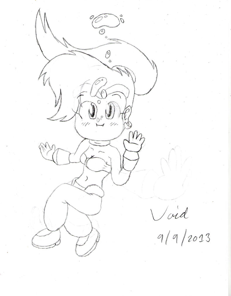 Random cute underwater shantae by son void on deviantart for Random cute drawings