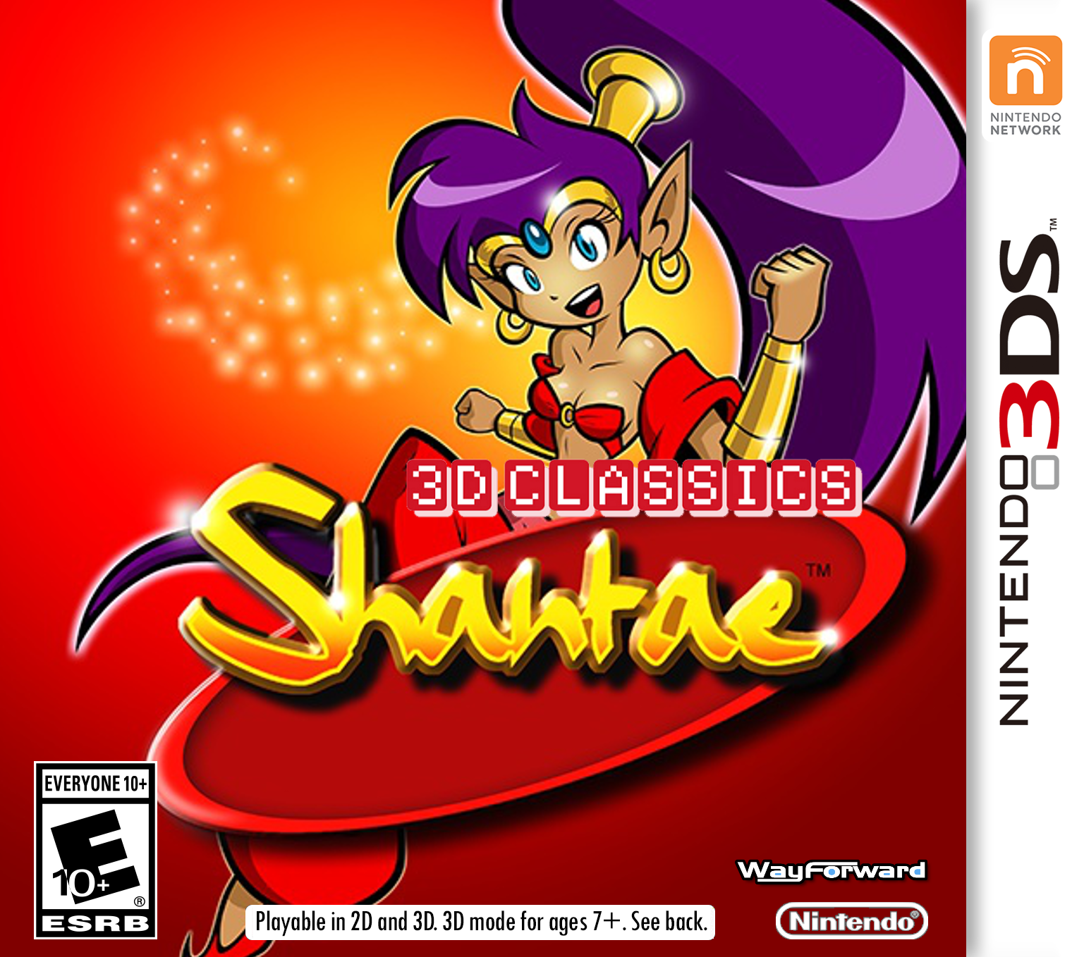 SSV's Fanart Page - Page 2 Shantae___mock_3ds_front_boxart_by_son_void-d7vd642