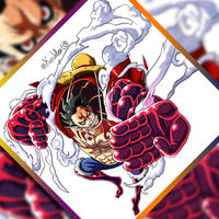 Luffy: Gear Forth by KrisLalev