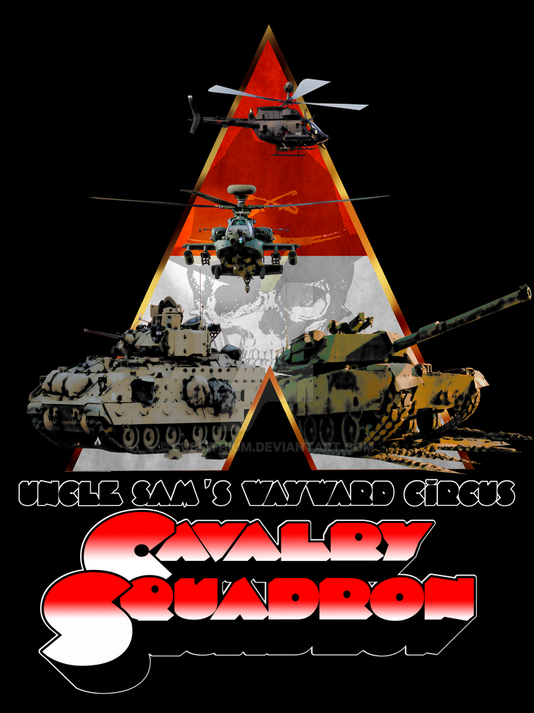 A Cavalry Squadron retro-movie style poster by sublithium
