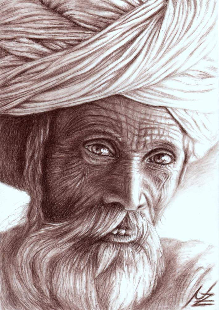 Old Indian Man by ArtsandDogs