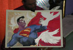 Super Heroes con painting