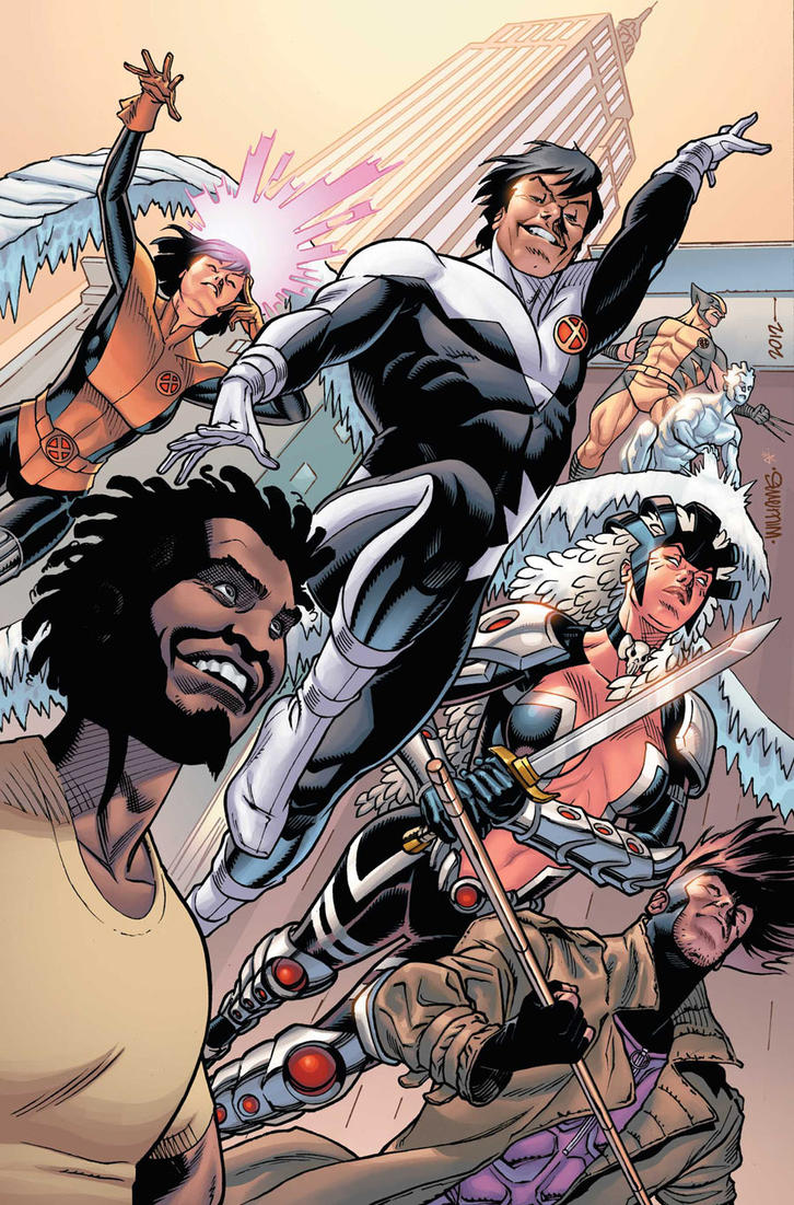ASTONISHING X-MENs in color by BroHawk