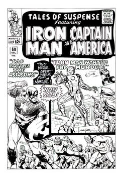 Iron-Man and Cap cover recreation