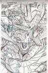 SPIDER-VERSE TEAM-UP page  2 pencils