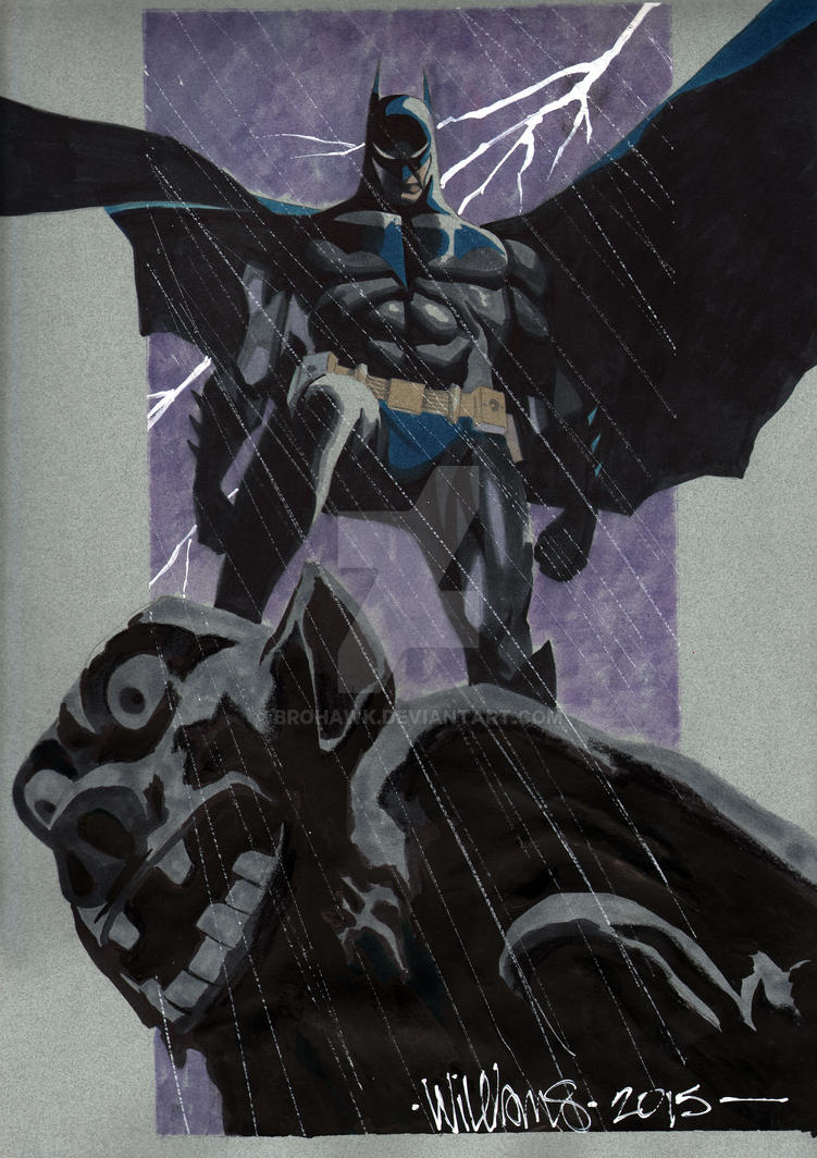 BigWow comic fest Batman by BroHawk