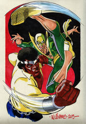 Power Man and Iron Fist commin at cha Heroes Con by BroHawk