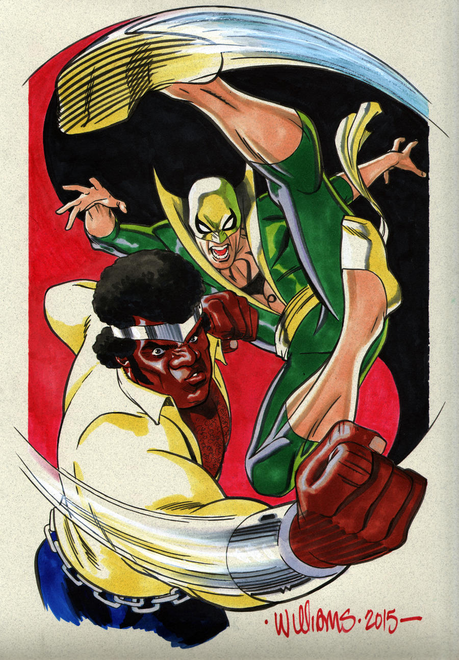 Power Man and Iron Fist commin at cha Heroes Con