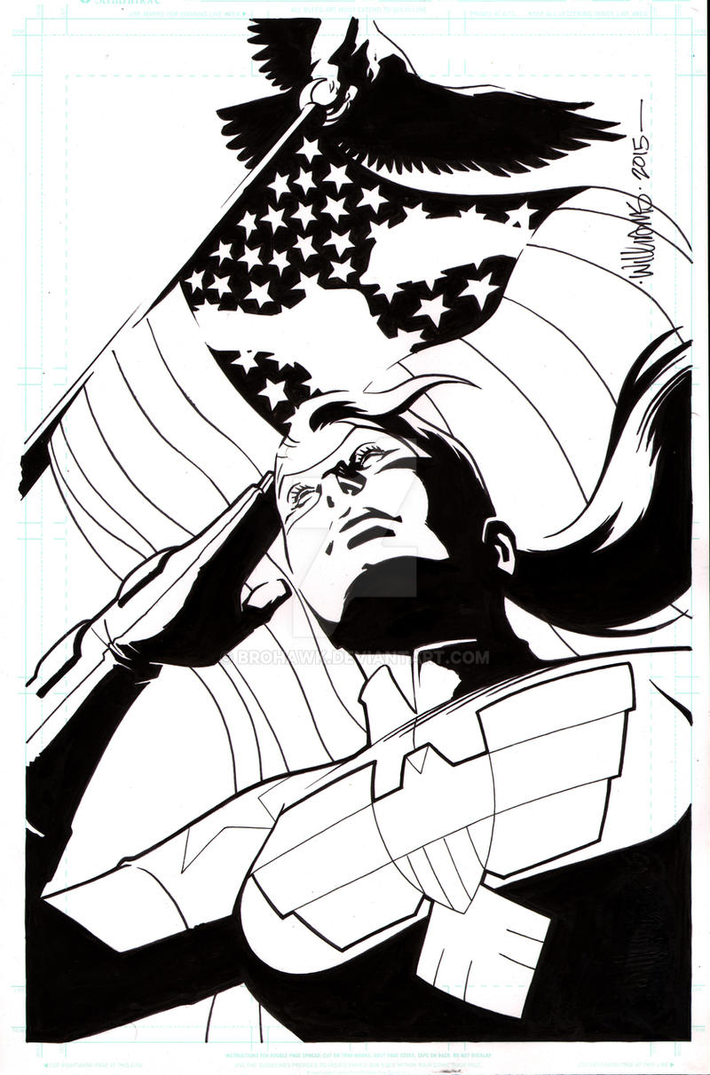 The Shield issue 3 cover final by BroHawk