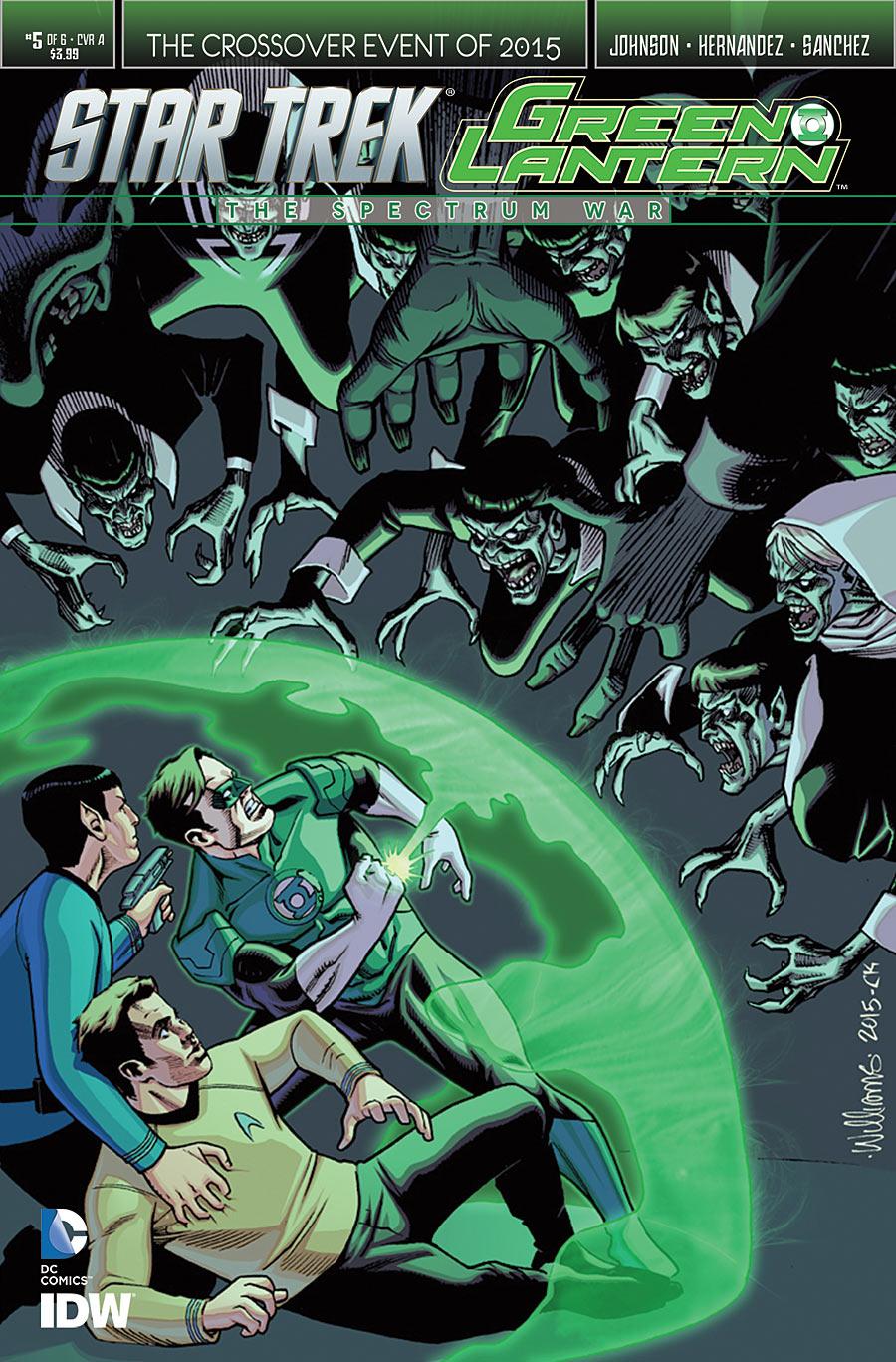 IDW November Star Trek Green Lantern cover by BroHawk