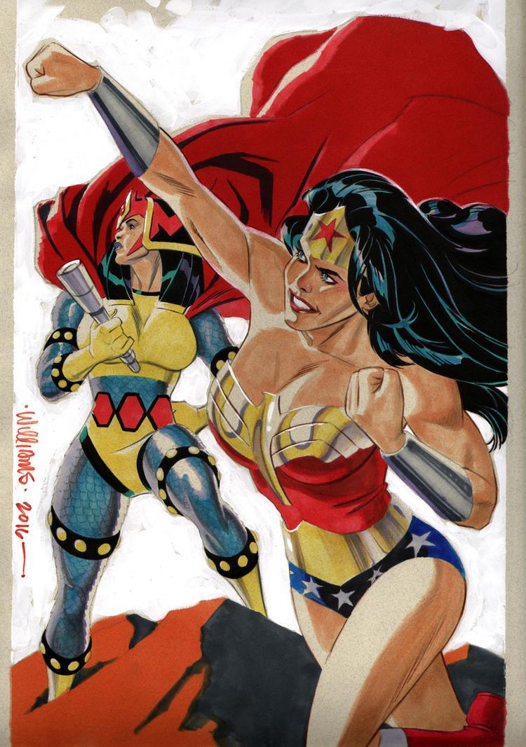 Big Barda  Wonder Woman commission for Jim by BroHawk