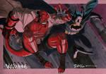 Hellboy and Batman commission