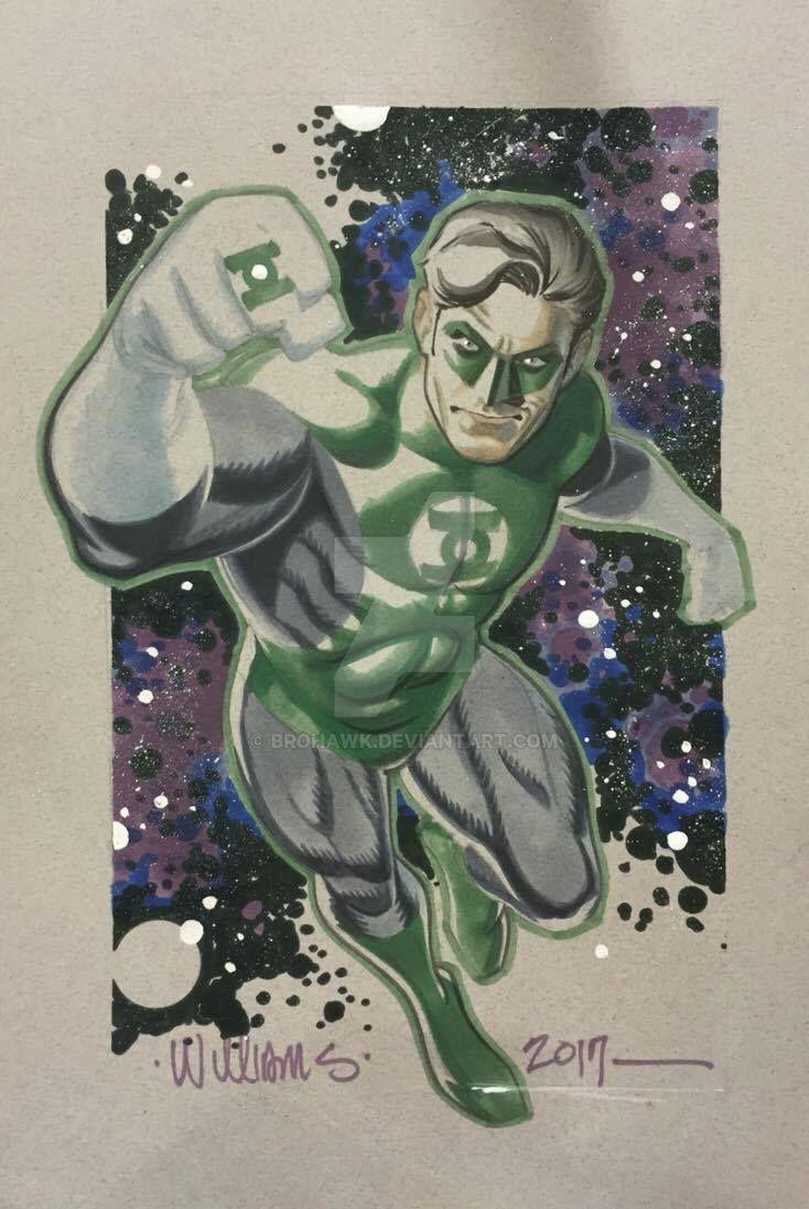 Green Lantern Phoenix Con commission by BroHawk