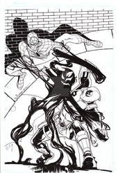 Spiderman Deadpool symbiote cover