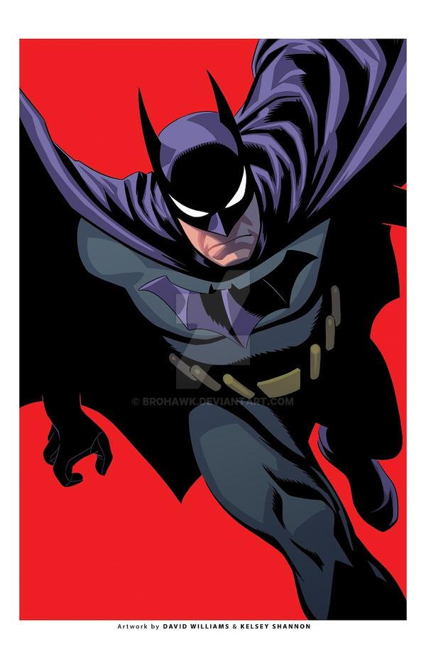 Batman exclusive print-RED by BroHawk