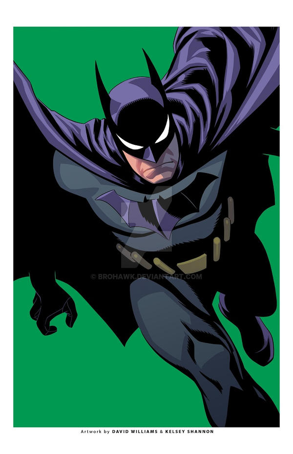 Batman exclusive print-GREEN by BroHawk