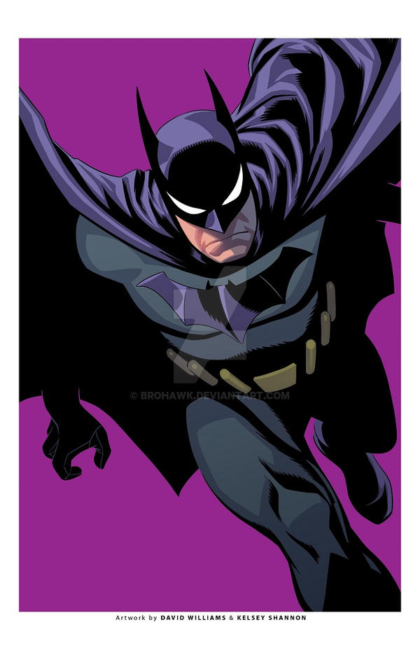 Batman exclusive print-PURPLE by BroHawk