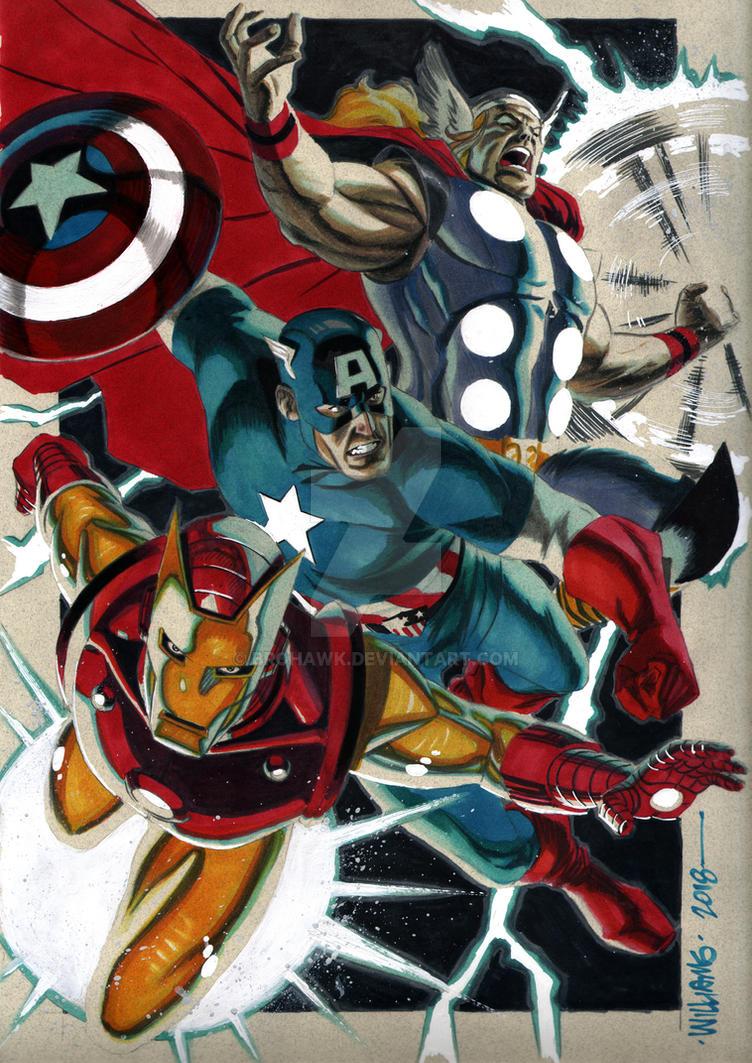 Marvel Trifecta by BroHawk
