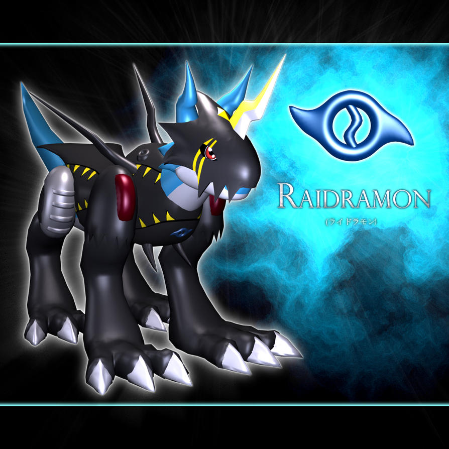 Raidramon 3d by me by EAA123