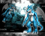 ExVeemon 3d by me