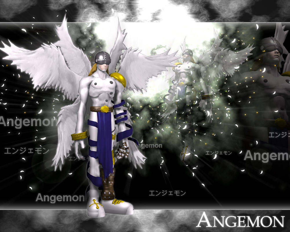 Angemon 3d by me by EAA123