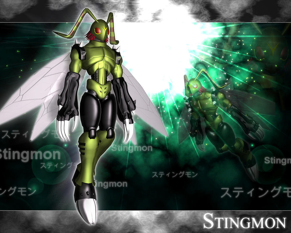 Stingmon 3d by me by EAA123