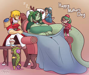 Sleepy Mother's Day by Cobatsart