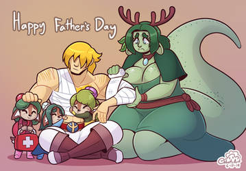 Snugly Father's day by Cobatsart