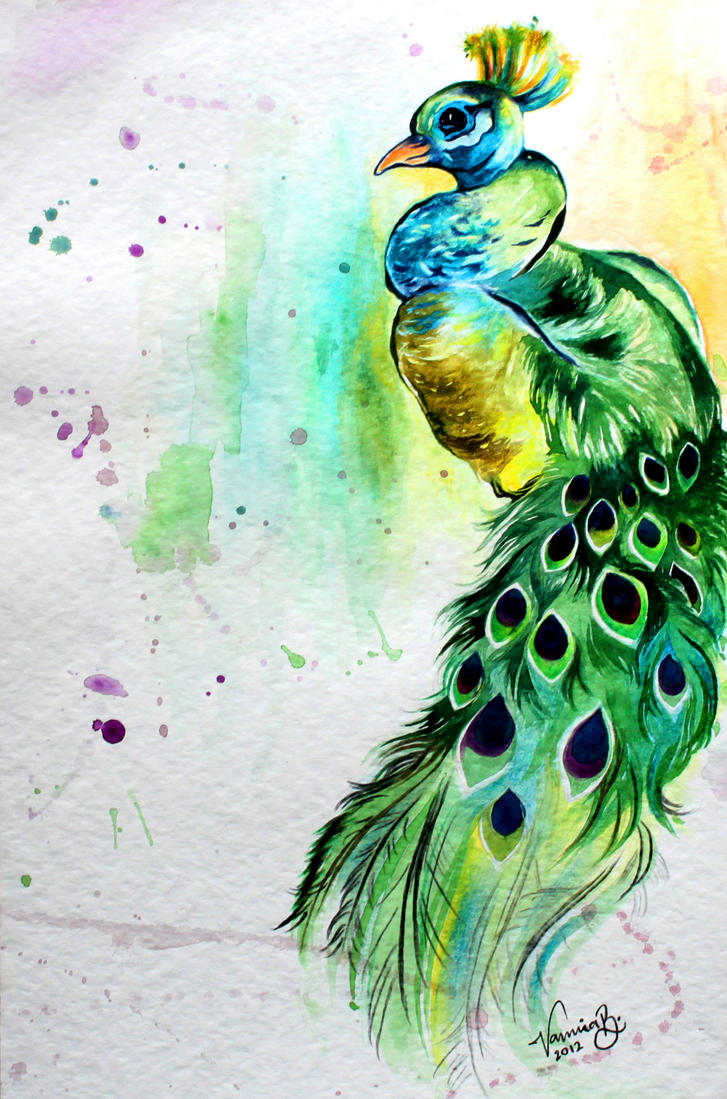 Abstract Peacock by NamiraB on DeviantArt