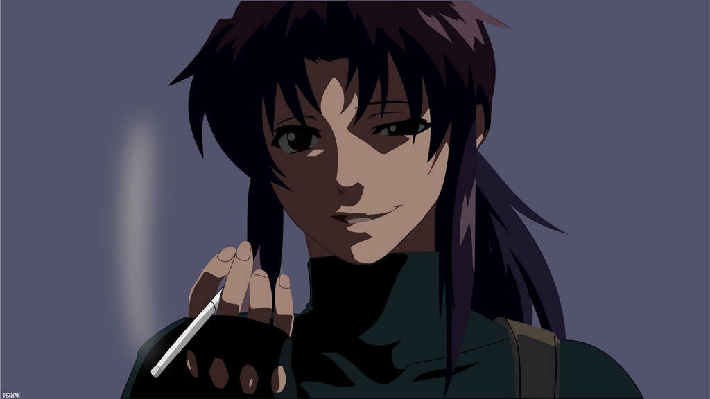 Revy Face Black Lagoon Minimalist Wallpaper By Deznak