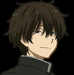 Oreki Houtarou (Hyouka) - Pixel Avatar (Render) by Deznak