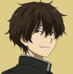 Oreki Houtarou (Hyouka) - Pixel Avatar (BG) by Deznak