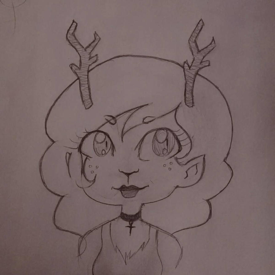 Fawn by TheLineArtist